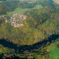 Luftbildaufnahme mit Blick über den rabenauer Grund und die Rabenauer Siedlung
