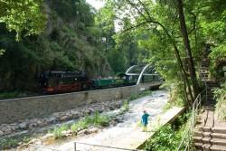 Weißeritztahlbahn am ehemaligen Wehr im Rabenauer Grund