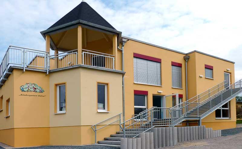 Eingangsbereich des Oelsaer Kindergartens