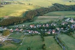 Luftaufnahme des Ortsteil Lübau