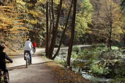 Fahrradfahrer im Rabenauer Grund