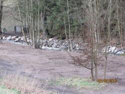 Befestigte Uferböschung nach der Instandsetzung